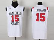 Mens Ncaa Nba San Diego State #15 Leonard White Jersey
