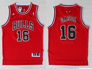 Mens Nba Chicago Bulls #16 Gasol (bulls) Red Revolution 30 Jersey (p)