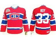 youth nhl montreal canadiens #33 roy red (ch) throwbacks Jersey