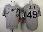 Mens Mlb Chicago White Sox #49 Sale Gray Jersey