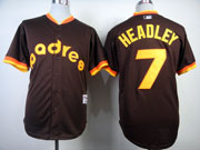 Mens mlb san diego padres #7 headley 1984 turn back the clock coffee Jersey