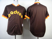 Mens mlb san diego padres (blank) 1984 turn back the clock coffee Jersey