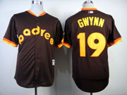 Mens mlb san diego padres #19 gwynn 1984 turn back the clock coffee Jersey