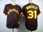 Mens mlb san diego padres #31 winfield 1984 turn back the clock coffee Jersey