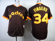 Mens mlb san diego padres #34 fingers 1984 turn back the clock coffee Jersey