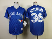 Mens mlb toronto blue jays #36 hutchison blue 2012 new style Jersey