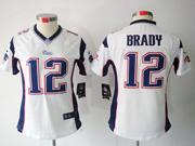 women  nfl New England Patriots #12 Tom Brady white limited jersey