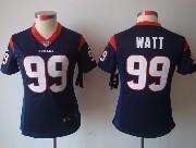 women  nfl Houston Texans #99 JJ Watt blue limited jersey