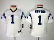 Women  Nfl Carolina Panthers #1 Cam Newton White Limited Jersey