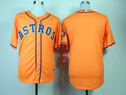 Mens mlb houston astros blank orange Jersey