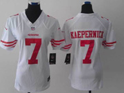 women  nfl San Francisco 49ers #7 Colin Kaepernick white limited jersey