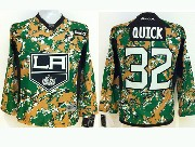youth reebok nhl los angeles kings #32 quick camo Jersey