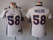 women  nfl Denver Broncos #58 Von Miller white limited jersey