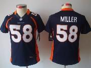 women  nfl Denver Broncos #58 Von Miller blue limited jersey