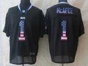 Mens Nfl Indianapolis Colts #1 Mcafee Black (2014 Usa Flag Fashion) Elite Jersey