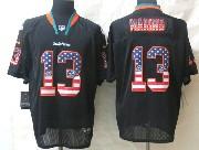 Mens Nfl Miami Dolphins #13 Marino Black (2014 Usa Flag Fashion) Elite Jersey