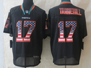Mens Nfl Miami Dolphins #17 Tannehill Black (2014 Usa Flag Fashion) Elite Jersey