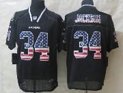 Mens Nfl Oakland Raiders #34 Bo Jackson Black (2014 Usa Flag Fashion) Elite Jersey