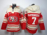 mens nfl San Francisco 49ers #7 Colin Kaepernick red (team hoodie) jersey