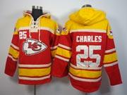 Mens Nfl Kansas City Chiefs #25 Charles Red (team Hoodie) Jersey