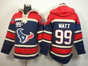 mens nfl Houston Texans #99 JJ Watt blue (team hoodie) jersey