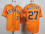 Mens Mlb Houston Astros #27 Altuve Orange Jersey