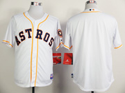 Mens Mlb Houston Astros (blank) Full White Jersey