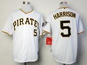 Mens mlb pittsburgh pirates #5 harrison white Jersey