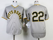 Mens Mlb Pittsburgh Pirates #22 Andrew Mccutchen 1953 Turn Back The Clock Gray Jersey(no Name)