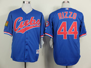 Mens Mlb Chicago Cubs #44 Rizzo 1994 Turn Back The Clock Blue Jersey