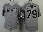 Mens Mlb Chicago White Sox #79 Abreu Gray Jersey