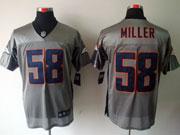 mens nfl Denver Broncos #58 Von Miller gray shadow elite jersey