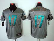 Mens Nfl Miami Dolphins #17 Tannehill Gray Shadow Elite Jersey