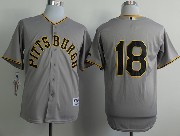 Mens Mlb Pittsburgh Pirates #18 Walker 1953 Turn Back The Clock Gray Jersey(no Name)
