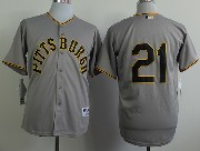 Mens Mlb Pittsburgh Pirates #21 Roberto Clemente 1953 Turn Back The Clock Gray Jersey(no Name)