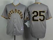 Mens Mlb Pittsburgh Pirates #25 Polanco 1953 Turn Back The Clock Gray Jersey(no Name)
