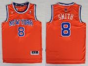 Mens Nba New York Knicks #8 Smith Orange Revolution 30 Jersey (p)