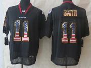 Mens Nfl Kansas City Chiefs #11 Smith Black (2014 Usa Flag Fashion) Elite Jersey