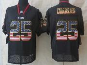Mens Nfl Kansas City Chiefs #25 Charles Black (2014 Usa Flag Fashion) Elite Jersey