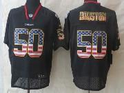 Mens Nfl Kansas City Chiefs #50 Houston Black (2014 Usa Flag Fashion) Elite Jersey