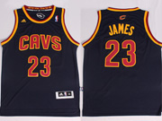 Mens Nba Cleveland Cavaliers #23 Lebron James Dark Blue Revolution 30 Jersey (p)