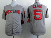 Mens Mlb Boston Red Sox #5 Craig Gray Cool Base Jersey