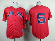 Mens Mlb Boston Red Sox #5 Craig Red Cool Base Jersey( No Name)