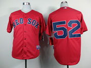 Mens Mlb Boston Red Sox #52 Cespedes Red Cool Base Jersey( No Name)
