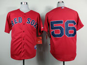 Mens Mlb Boston Red Sox #21 Craig Red Cool Base Jersey( No Name)