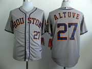 Mens Mlb Houston Astros #27 Altuve Gray (2014 New) Jersey