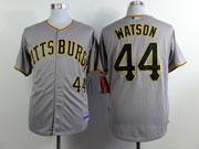 Mens Mlb Pittsburgh Pirates #44 Watson Gray Jersey