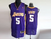 Mens Nba Los Angeles Lakers #5 Horry Purple Jersey (m)
