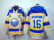 Mens nhl buffalo sabres #16 lafontaine cream hoodie Jersey