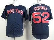 Mens mlb boston red sox #52 cespedes blue Jersey